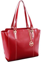 McKlein McKleinUSA Alicia Leather Tote with Tablet Pocket