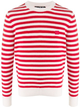 Acne Studios Face striped crew neck jumper