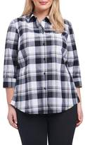 Foxcroft Sue Shaped Fit Plaid Shirt