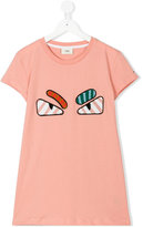 Fendi angry eyes embroidered T-shirt - kids - Cotton - 14 yrs