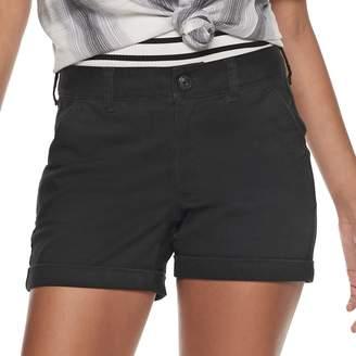 So Low So Juniors' Rise Cuffed Hem Midi Shorts