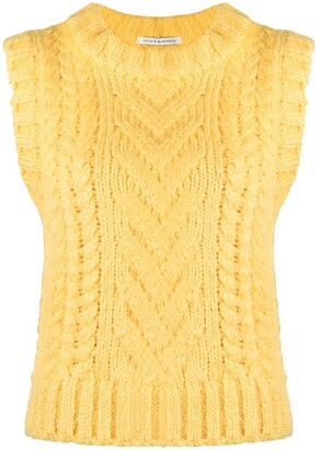 Cecilie Bahnsen Ribbed-Knit Vest