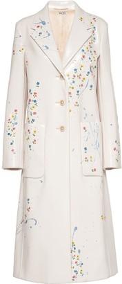 Miu Miu Cire Floral Print Coat