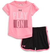 Under Armour Infant Girl's Play On Heatgear Tee & Shorts Set