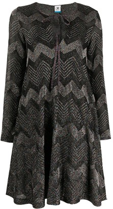 M Missoni Zig-Zag Knit Midi Dress