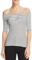 Three Dots Hyannis Stripe Off-the-Shoulder Top