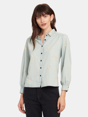 The Great The Stable Field Floral Embroidery Button Up