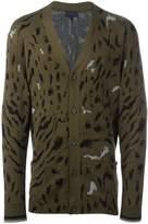 Lanvin paneled tiger print cardigan