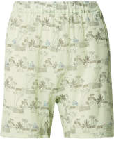 Marni Printed Silk Shorts - Light blue