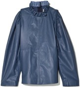 Sea Lydia Leather Blouse in Blue