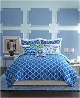 Nostalgia Home Fashions Skylar Duvet Cover, Twin - Blue - Twin