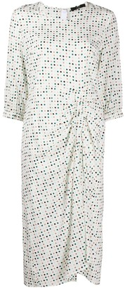 Steffen Schraut Polka-Dot Print Draped Dress
