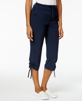 Style&Co. Style & Co Style & Co Petite Ruched-Hem Capri Pants, Created for Macy's
