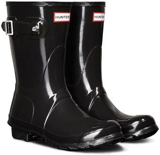 Hunter Original Short Gloss Welly Boots - Black