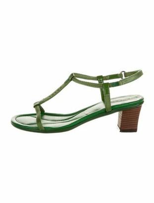 Prada T-Strap Sandals Green