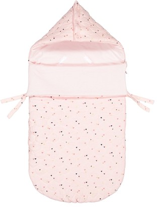 La Redoute Collections Heart Print Hooded Travel Bag