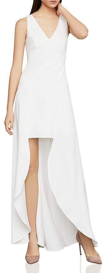 BCBGMAXAZRIA Crêpe High/Low Dress