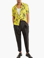 Haider Ackermann Yellow Printed Short-sleeved Shirt