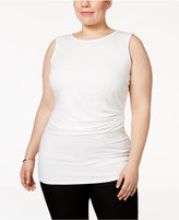 Alfani Plus Size Ruched Shell, Only at Macy's