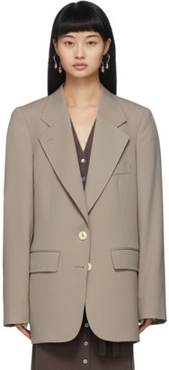 Lemaire Taupe Wool Blazer