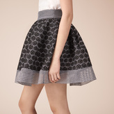 Maje Basket lace skater skirt