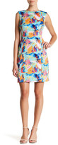 Tahari Floral Print Sheath Dress (Petite)