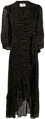 BA&SH wrap maxi Sele dress