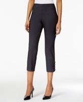 JM Collection Petite Laced-Hem Capri Pants, Created for Macy's