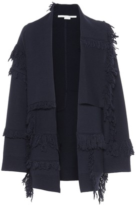 Stella McCartney Fringe-trimmed wool cardigan