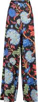 Alice + Olivia Elinor printed satin wide-leg pants
