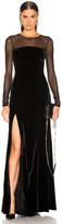 Cinq à Sept Isadora Gown in Black | FWRD