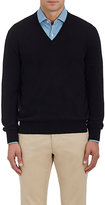 Barneys New York Men's Cashmere V-Neck Sweater-BLACK