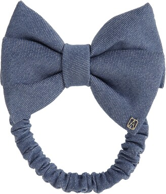 Alexandre de Paris Denim Hair Tie