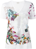 Etro travel print T-shirt - women - Cotton - 38