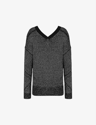 AllSaints Quinta metallic-knit jumper