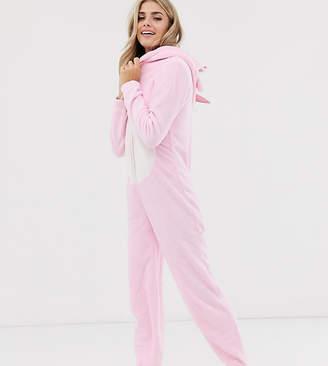 Loungeable pink unicorn fleece onesie