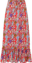 Etro Printed Cotton-voile Maxi Skirt - Red