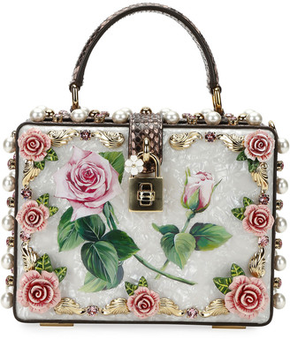 Dolce & Gabbana Dolce Box Tropical Rose PVC Top-Handle Bag