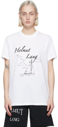 Helmut Lang SSENSE Exclusive White Saintwoods Edition Boat T-Shirt