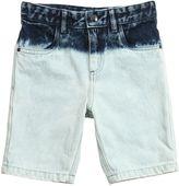 Bleached Denim Shorts