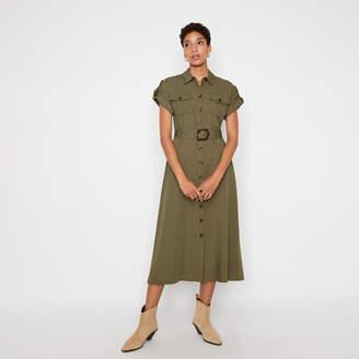 Warehouse UTILITY MIDI SHIRT DRESS