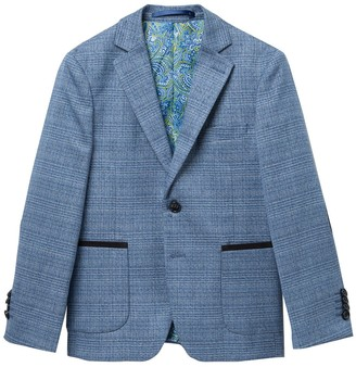 Isaac Mizrahi Plaid Blazer (Toddler, Little Boys & Big Boys)