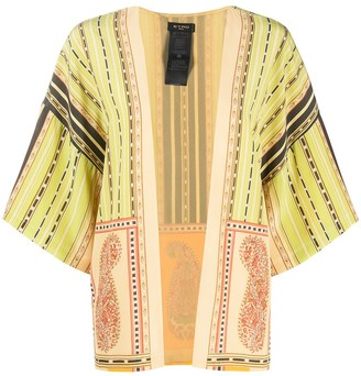 Etro Short-Sleeve Printed Robe Coat