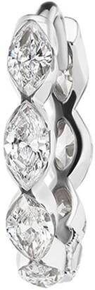 Maria Tash 6.5mm 18kt white gold marquise diamond Eternity earring