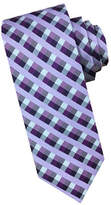 Perry Ellis Gingham Checkered Silk Tie