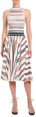 Missoni Striped Halter-Neck Dress
