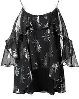 Nicole Miller metallic pattern top - women - Silk/Lurex - M