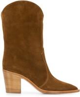 Gianvito Rossi wooden heel cowboy boots