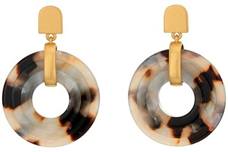 Madewell 3D Double Drop Earrings (Shell Tortoise) Earring