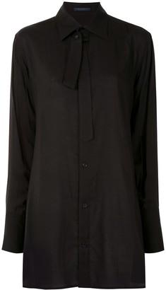 Yohji Yamamoto Tie-Neck Longsleeved Shirt